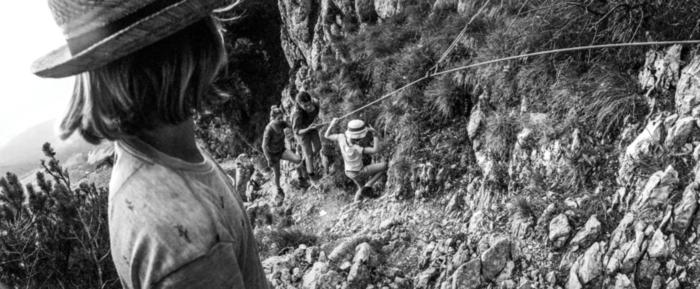 Tias, Bes, Lien en Lente climbing Ellmauer Tor, Oostenrijk